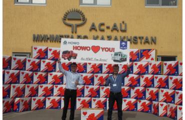 Подарки клиентам от компании Ас-Ай и завода HOWO Sinotruk